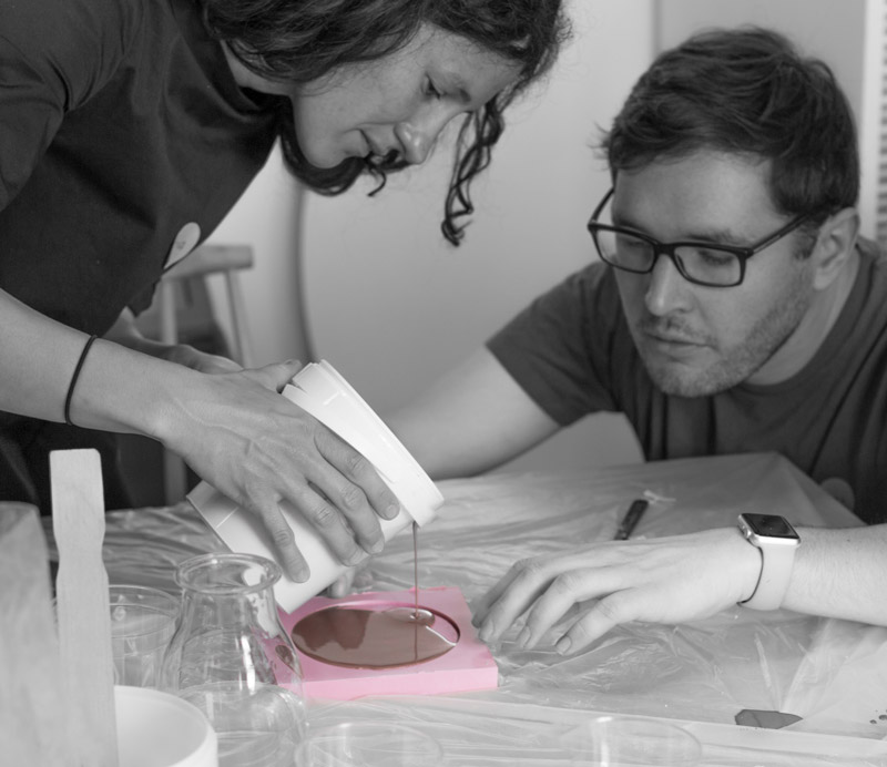 Architecture model casting with plaster