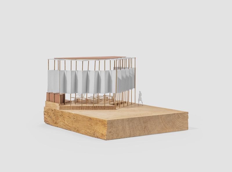 Solid wood based architecture model using CNC
